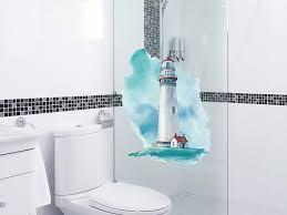 fensterfolie leuchtturm maritim sichtschutzfolie für fenster dusche glas blickdicht milchglasfolie sichtschutz nordsee ostsee bad