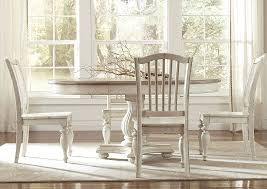 Coventry Two Tone Weathered Driftwood Dover White Extension Dining Table W 4 Side Chairs