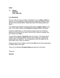 Landlord Move Out Letter Template