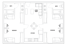 2 Bed 2 Bath Double The Nest Student Housing Chicago IL