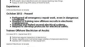 Offshore Electrician CV Sample   MyperfectCV