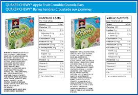Quaker ChewyR Apple Fruit Crumble Made In A Peanut Free Facility