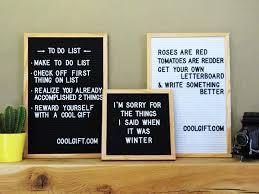 Felt Letterboard Oak Frame DIY Letter Board With Wooden Frame
