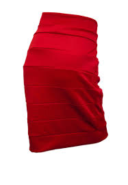 jr plus size bandage pull on pencil skirt red evogues apparel