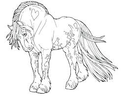 Spirit Horse Coloring Pages Free Also Horses