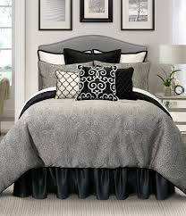 Grey Simple Modern Bed Grey Pillow White Bedding Grey Blanket
