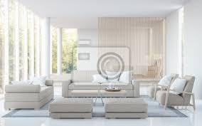 moderne weiße wohnzimmer und schlafzimmer 3d rendering image there bilder myloview