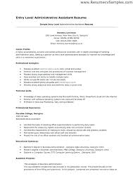 Office Admin Assistant Resume Sample Administrative Entry Level Samples