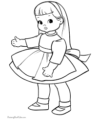 Draw Baby Doll Coloring Pages 23 With Additional Gallery Ideas
