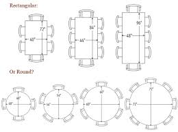 standard round dining room table sizes 51 images 4 seater