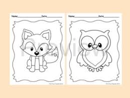 Sweet Woodland Animal Themed Coloring Pages For Your Students There Are A Total Of 8