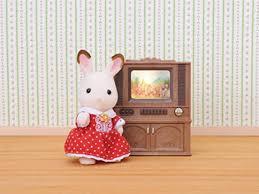 sylvanian families 4264 luxus farbfernseher puppenhaus einrichtung möbel