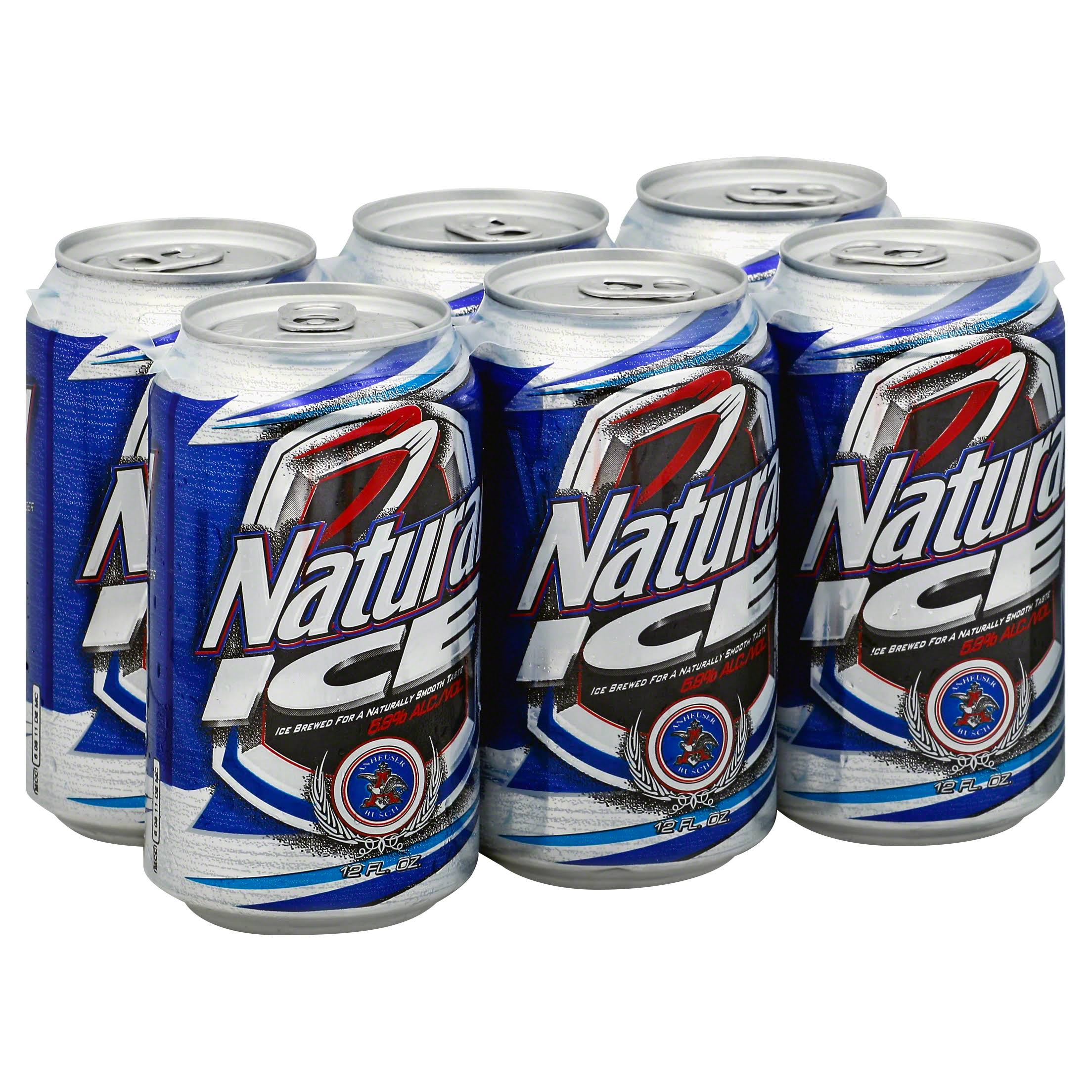 Natural Ice Beer - x6