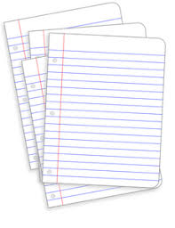 1099 lined notebook paper clipart