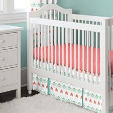 amazon com carousel designs coral and teal arrow 2 piece crib