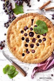 trauben pie weintrauben tarte rezept mit zimt marzipan
