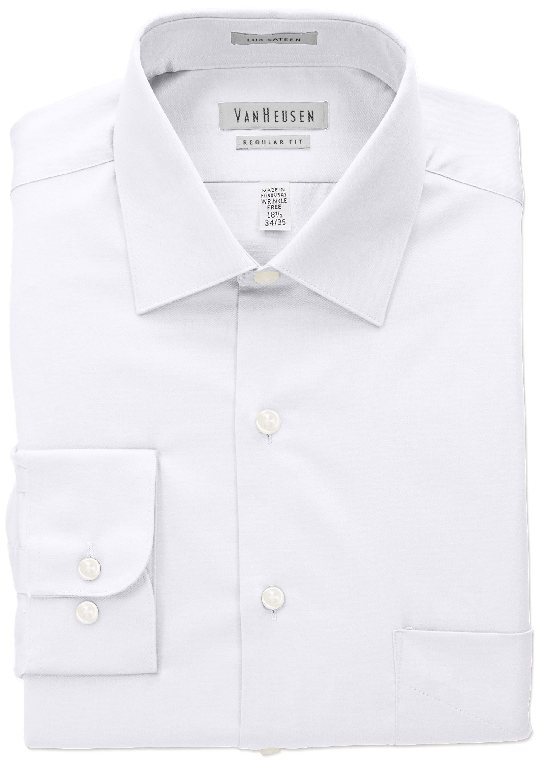 Van Heusen White Regular-Fit Dress Shirt