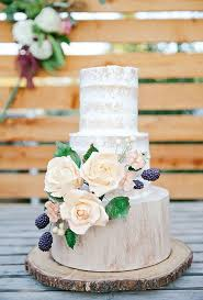 A Two Tiered Rustic Wedding Cake Decorated With Sugar Flowers Created By RooneyGirl