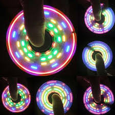 cool wholesale fidget spinner rainbow led light change