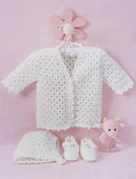 bernat lacy set to crochet crochet pattern yarnspirations
