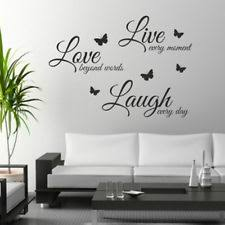 DIY Wall Art Live Laugh Love Butterfly Litter Stickers Craft Decal Stic H2