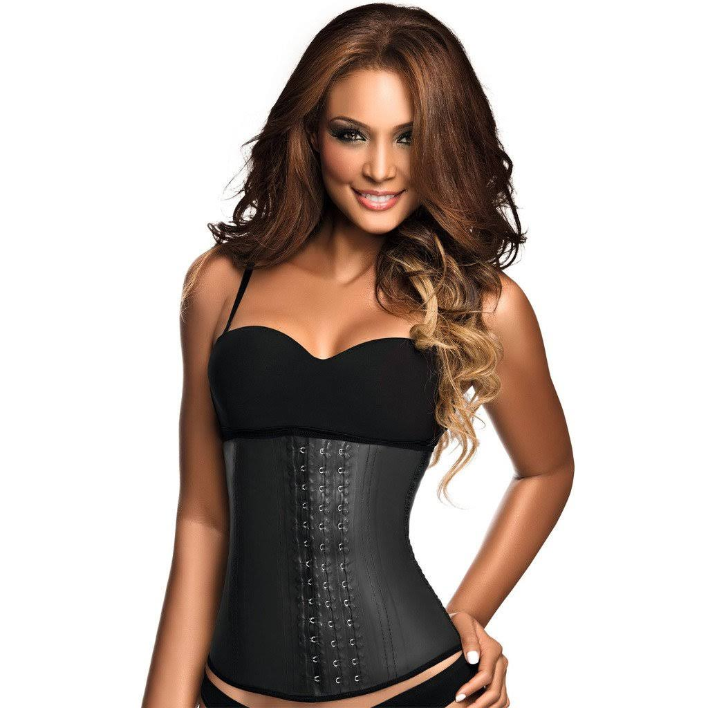 Ann Chery Women's 3 Hook Classic Latex Waist Trainer Cincher - Black, 3X-Large