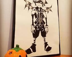 Halloween Town Sora by Halloween Town Sora Kingdom Hearts Ink Drawing Original