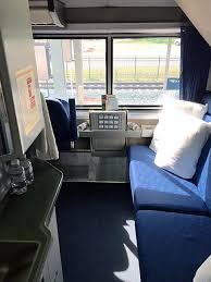 bedroom on amtrak superliner bathroom shower is around corner on