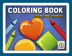 Coloring Book 23 Counting Shapes