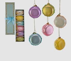 100 Sweet 22 Katherines Collection Box Of 6 Macaroons Glass Christmas