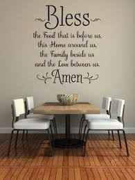 Blessing Amen Kitchen Wall Decorations Art Printable Paper Stickers Decals Mural Wooden Furniture Cha