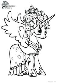 My Little Pony Coloring Pages Filly Princess Baby