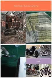 motorräder auf dem wohnzimmer oder wie wohnzimmer auf der