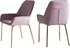 salesfever esszimmer stuhl linnea 2er set in polsterstuhl in samt optik mit armlehnen gestell messing farben sitz und rückenpolsterung