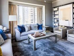 Captivating Blue And Grey Living Room Sofa