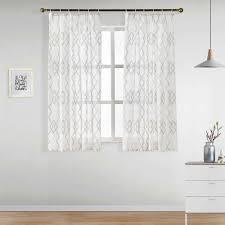 napearl bereit maß kurze fenster vorhänge für schlafzimmer geometrische einzigen panel gardinen fenster günstige küche vorhänge elegante fenster