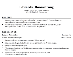 The Basic Resume Template