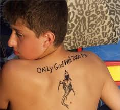 Only God Will Judge Mehorrible Tattoos Spelled Wrong Back Tattoo Misspelled Bad
