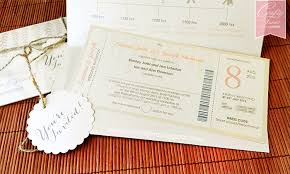 Rustic Chic Garden Wedding Card Kad Kahwin