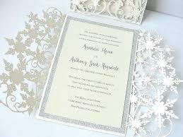 Winter Wedding Invitations Invitation Snowflake Invite Wonderland Handmade