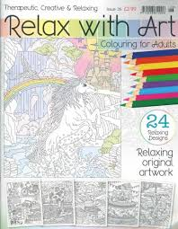 Coloring Book Magazine Relax With Art Subscription
