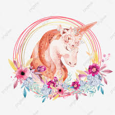 Guirnalda Y Diseño De Elementos Unicornios La Flor