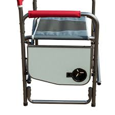 Timber Ridge Folding Lounge Chair by Timber Ridge Aluminum Portable Director U0027s Folding Chair With Side
