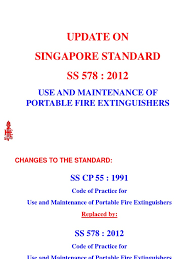 Fire Extinguisher Mounting Height Code by Ss 578 2012 Use And Maintenance Of Fire Extinguishers