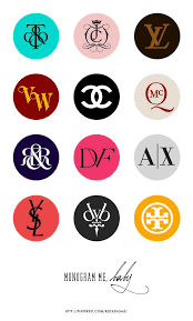 Designers And Their Logos Fashion Brands Monogram Part 1 Design Print Free