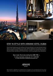 100 The Armani Hotel Dubai GOLDEN News Warm Greetings From