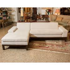 Bernhardt Cantor Sectional Sofa by West Elm Lorimer Sectional In Monaco Linen Upholstery Designer