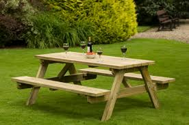 Large Wooden Patio Table Outside Round Garden Big