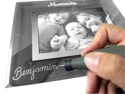 cadre photo bapteme personnalise gravure à personnaliser