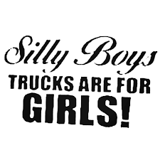 100 Trucks For Girls Silly Boys Are 1 Decal Sticker